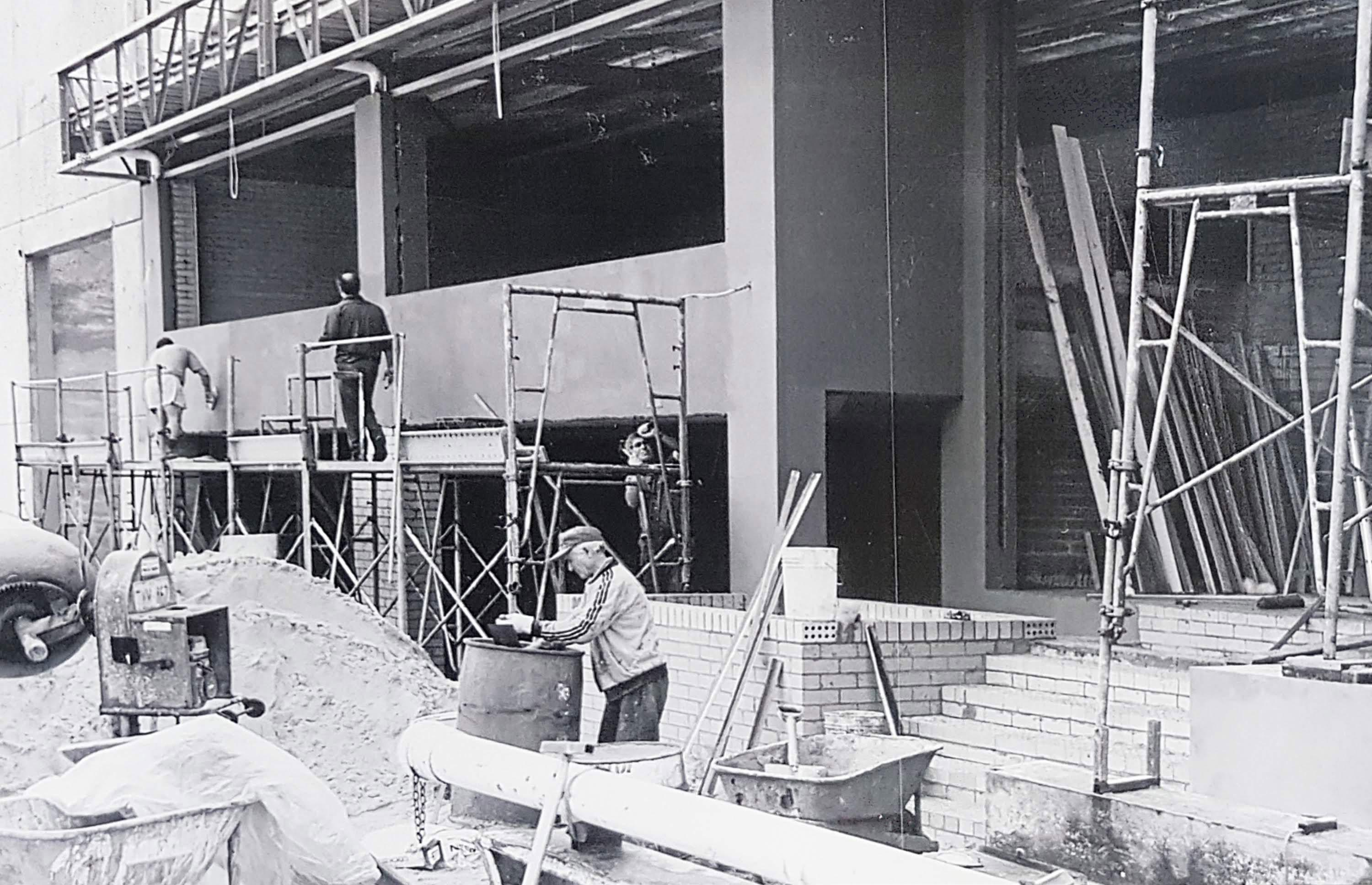 Contatore Engineering being built in 1990