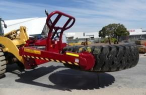 Contatore Engineering Tyre Handlers with Tyre in it WA